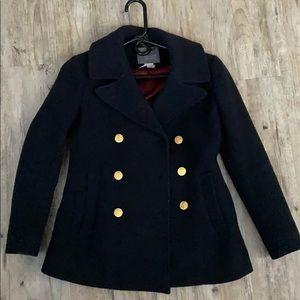 J. Crew Navy Stadium Cloth Peacoat 0P